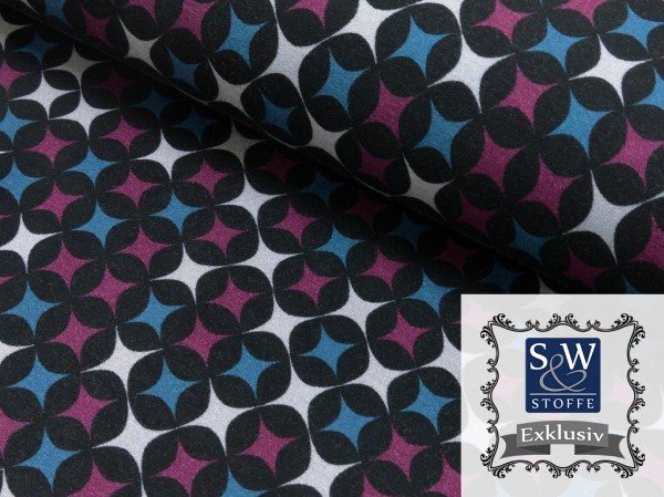 Viscose French Terry Druck Four Stars