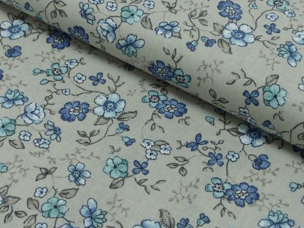Baumwoll Druck Floral Caroline
