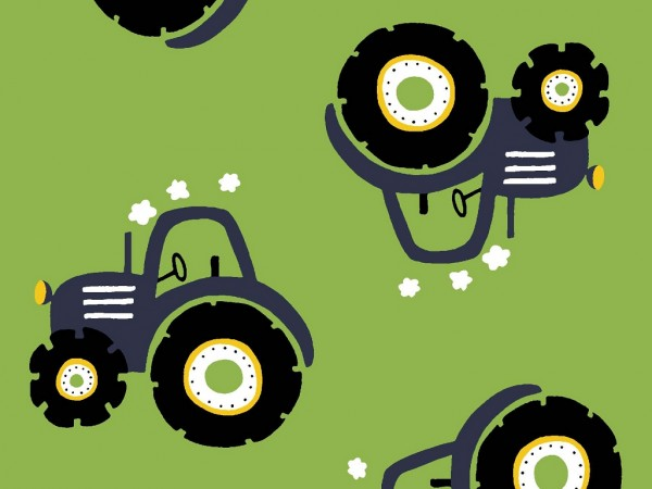 Baumwoll Jersey Druck Traktor
